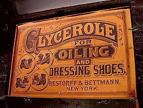 RARE 1915 Black Memorabilia Shoe Oil Advertising Trunk