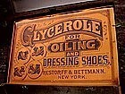 RARE 1915 Black Memorabilia Shoe Oil Advertising Trunk