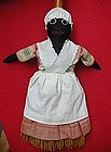 Wonderful 1940s Cloth Black Americana Mammy Broom Doll