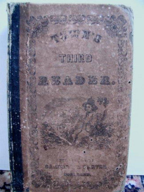 1851 Portland Maine School Book Town's Third Reader