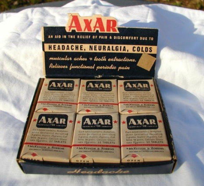 AXAR Pharmacy Headache Neuralgia Colds Display