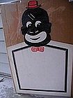 Fab 1940s Black Man Cartoon Caricature Restaurant Menu Advertising