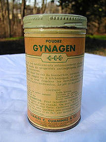 "1930s Drug Store Female Medicine ""Gynagen Powder"""