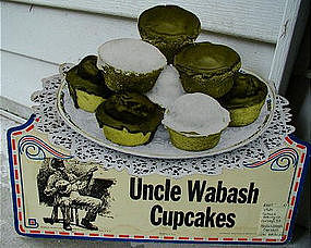 1924 Very Rare Advertising Diecut Black Man Uncle Wabash Cupcakes