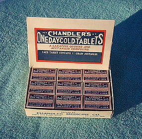 Chandler's Cold Headache Pharmacy Drug Store Display