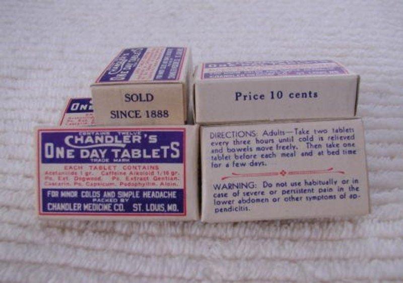 Chandler's Cold Headache Pharmacy Drug Store Display