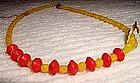 New Orleans 1930s Czech Glass Mardi Gras Beads Necklace