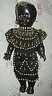 1940-50 Black Memorabilia Mammy African Dolls Mother + Baby BEADWORK