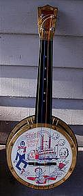 1960s Black Memorabilia Mint w/Box Toy Minstrel Banjo