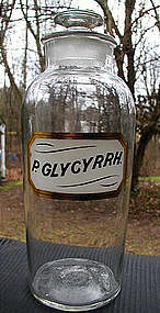 RARE 19th C Apothecary LUG Pharmacy Bottle P. GLYCYRRH.