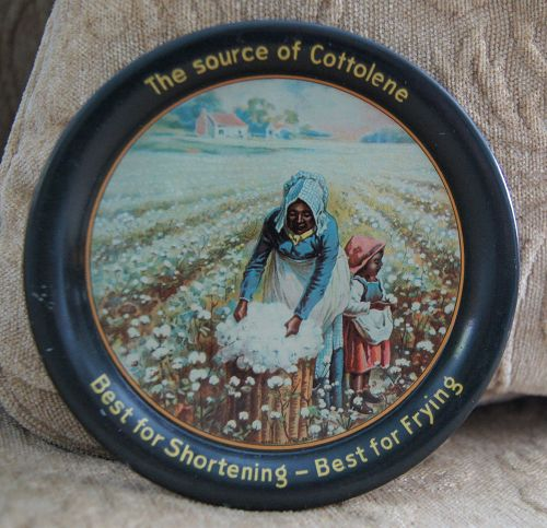 1920s Black Memorabilia Cottolene Cotton Picker Tip Tray