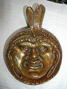 RARE Native American Black Memorabilia SLAVE Brass Bowl