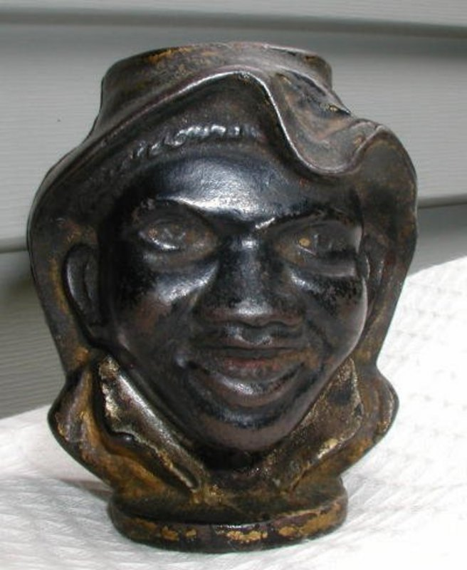 C1910 Johnny Griffin Black Memorabilia Cast Iron Bank