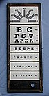 Vintage Framed Milk Glass Vision Eye Test Exam Chart