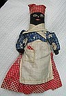 C1900 RARE Corn Cob Black Memorabilia Folk Art Mammy Doll