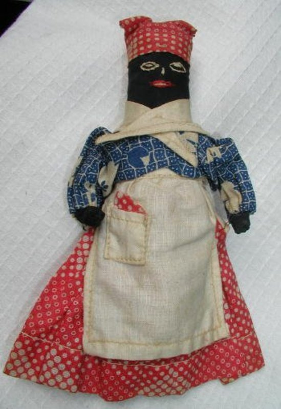 C1900 RARE Corn Cob Black Memorabilia Folk Art Mammy Doll