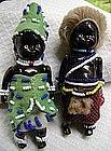 1940 Black Memorabilia Pair African Native Bead Dolls