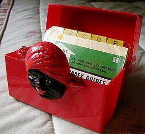 1950 Black Memorabilia Aunt Jemima Red Fosta Recipe Box