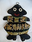 1930s Black Memorabilia Folk Art Little Girl Key Holder