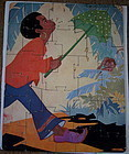 1930 Little Black Sambo Art Deco Puzzle by Fern Bisel Peat