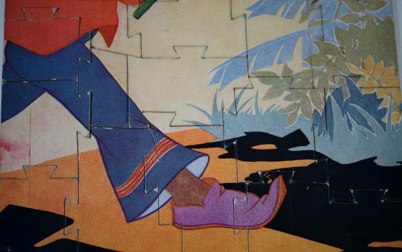 1930 Little Black Sambo Art Deco Puzzle by Fern Bisel Peat