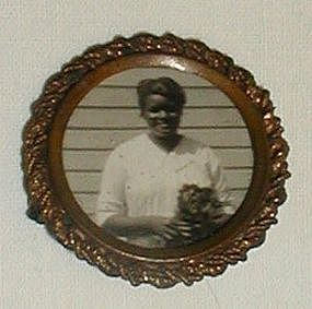 RARE1920 Black Memorabilia Mourning Jewelry Brooch Lady