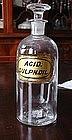 Great 1862 SULPHURIC ACID LUG Apothecary Bottle