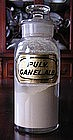 Fabulous 19th C Apothecary Pharmacy Bottle PULV CANEL