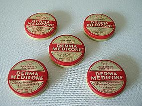 5 Medicine Pharmacy Medical Drug Store Tins