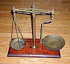 Fancy 19thC English Apothecary Drug Store Balance Scale