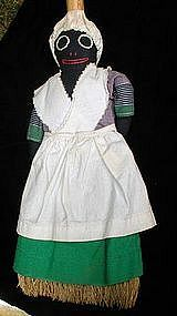 Wonderful1940s Black Memorabilia Cloth Mammy Broom Doll