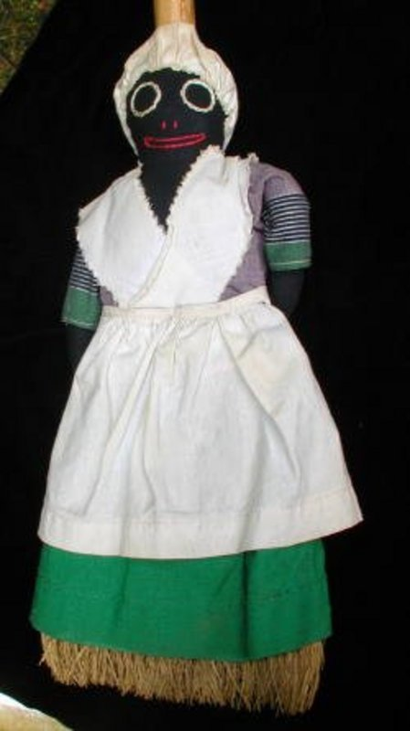 Wonderful1940s Black Memorabilia Cloth Mammy Broom Doll
