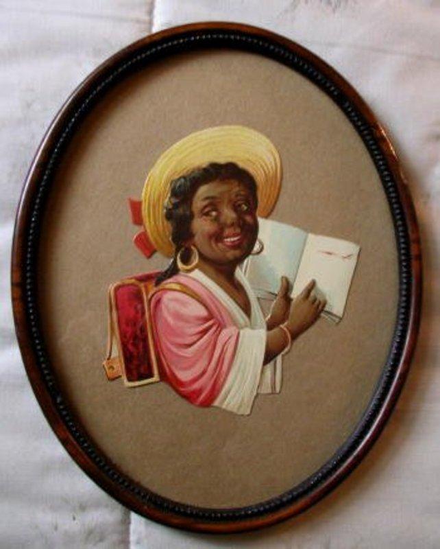 1930s Black Memorabilia Black Woman Diecut Advertising