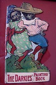 1920s Framed Black Memorabilia DARKIES Painting Book