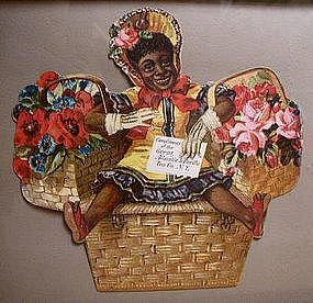 1930 A&P Grocery Store Black Girl in Basket Advertising