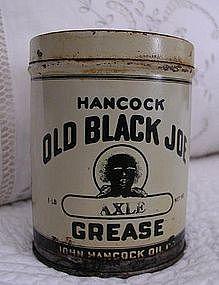 1930s Unused Can Hancock OLD BLACK JOE Axle Grease