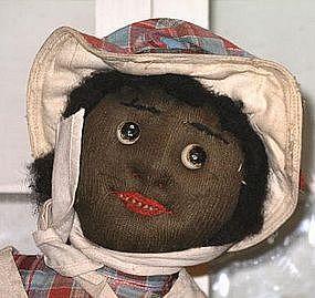 "Fab 1920 Black Memorabilia Handmade Cloth Doll ""Sallie"""