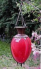 Rare Red 19thC Victorian Hanging Apothecary Show Globe