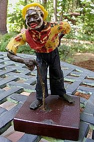 """1920s New Orleans Vargas Wax Black Doll """"Ole Charley"""""""