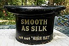 19thC Kessler's SMOOTH AS SILK WHISKEY Advertising Top Hat Display