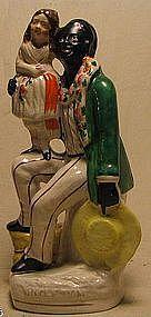 C1850 Staffordshire Figure of Uncle Tom & Little Eva