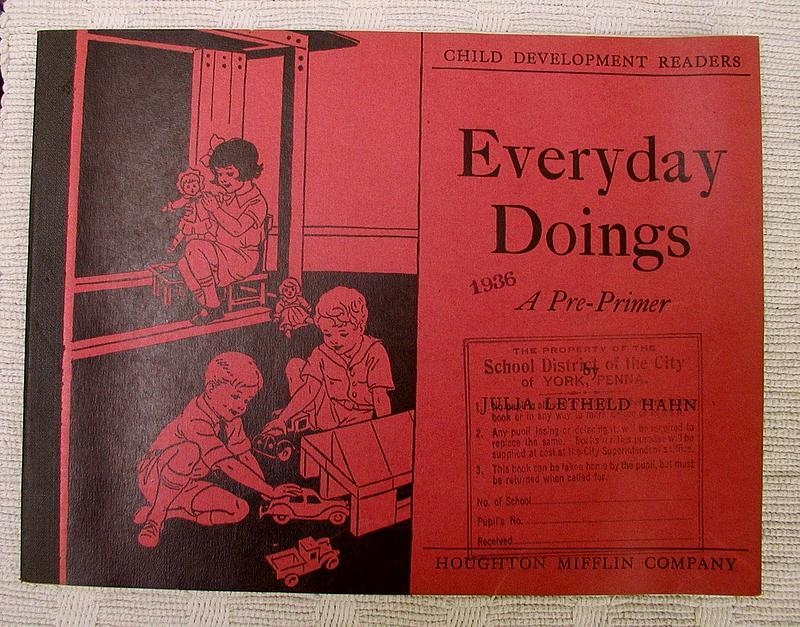 Darling1935 Houghton Mifflin School Pre-Primer Workbook