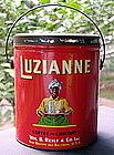 1928 LUZIANNE 3LB Mammy Coffee Tin Black Memorabilia