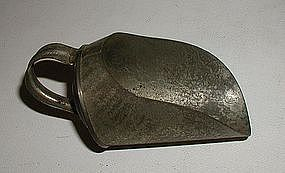 Tiny 19thC New England Tin Grain Flour Candy Scoop Robacher Estate