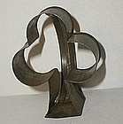 Unusual 19thC Pennsylvania Robacher Estate 3 Leaf Clover Cookie Cutter