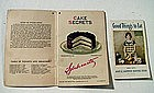 1922 + 1925  Cake Recipe Booklets - Great Graphics