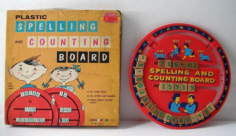 Mint in Box 1950s Plastic Educational ABC + Number School Board