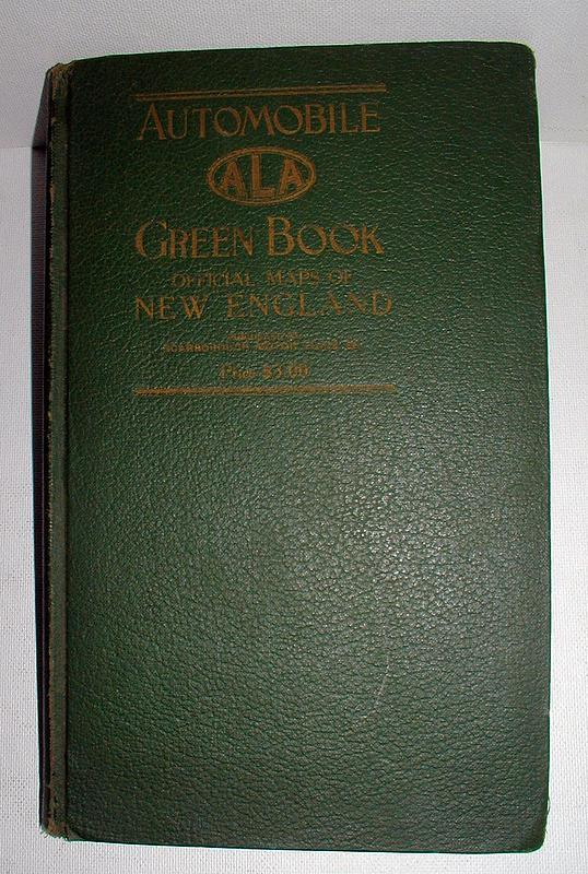 1930s New England Travel ALA Automobile Green Book