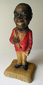 "FAB 1930s Chalkware Statue Louis ""Satchmo"" Armstrong"