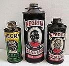 1930s Black Man NEGRITA Negro Belgian Metal Polish Tins